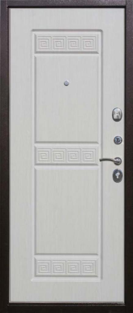 Входная дверь Булат Троя внутренняя сторона Белый Ясень