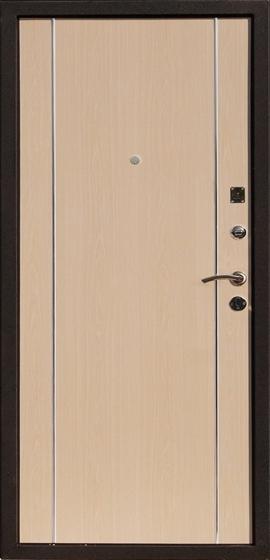 Входная металлическая дверь Футура-002 внутренняя отделка Беленый дуб