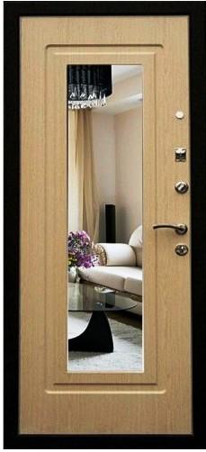 Входная дверь Кондор Престиж с зеркалом на белом МДФ