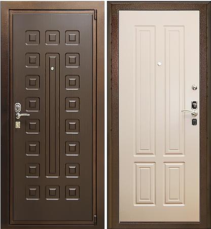 Входная дверь Булат М+5 вид снаружи и внутри