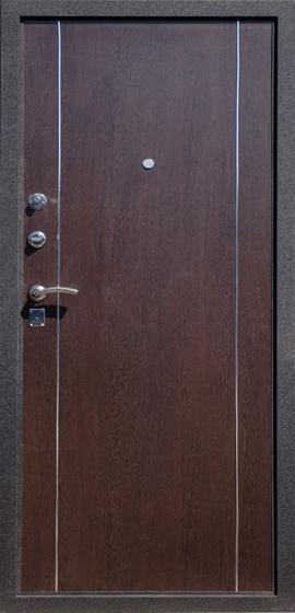 Входная металлическая дверь Футура 003 внутренняя отделка МДФ Венге