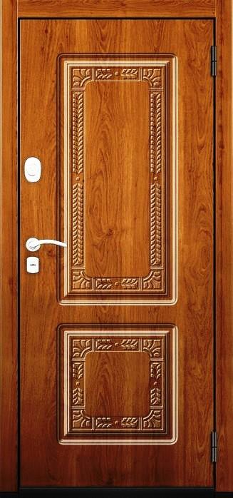 Входная дверь Гарда ZX внешняя сторона в цвете Орех вертикальный