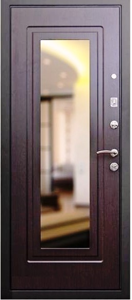 Входная дверь Кондор Престиж с зеркалом на МДФ венге