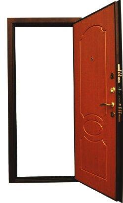 Входная дверь Булат 7 в открытом виде