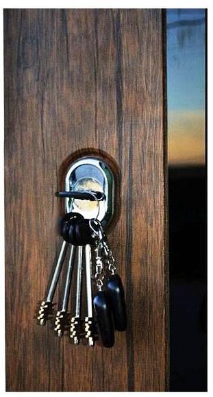 Замок с ключами на входной металлической двери Гарда S6