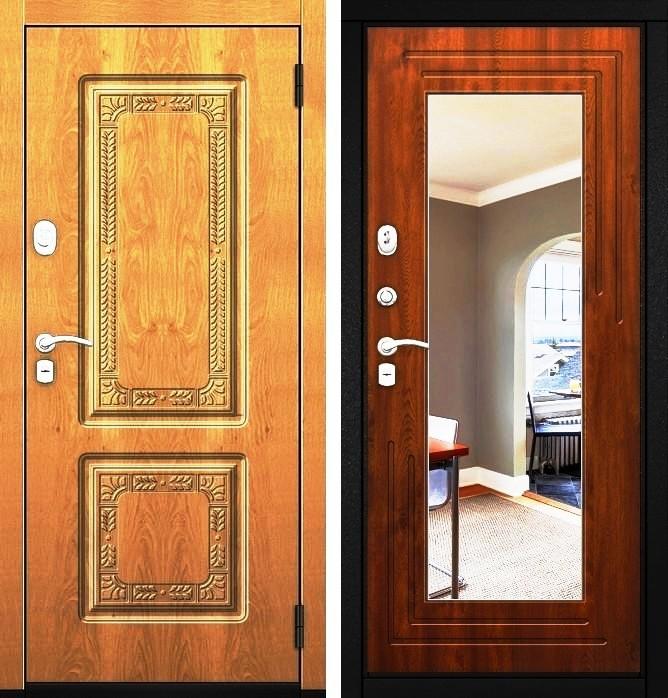 Входная дверь Гарда ZX внешняя и внутренняя стороны
