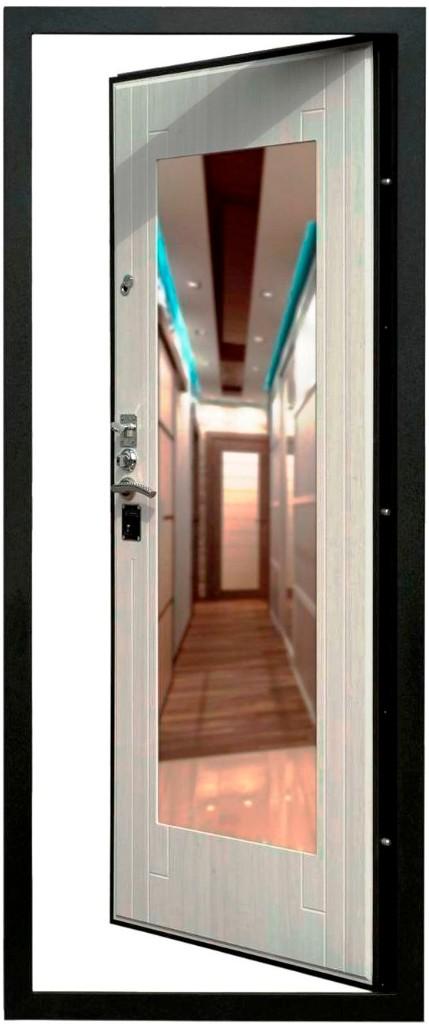 Зеркало на внутренней панели на входной двери Гранит Т3М
