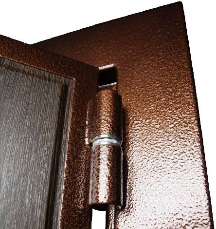 Усиленные петли на входной двери Гранит М2 люкс