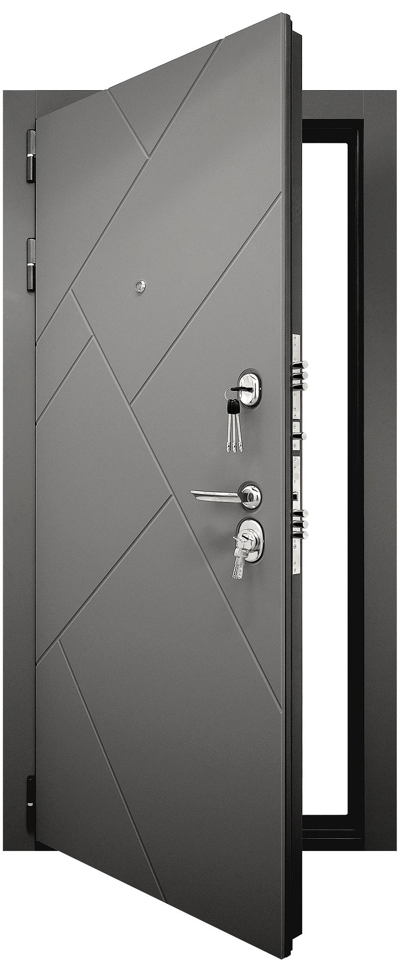 Входная дверь Гранит С3 Ультра в раскрытом виде