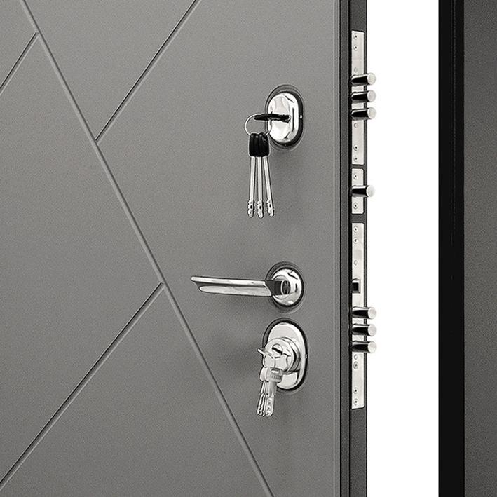 Замки и внешняя филёнка на входной двери Гранит С3 Ультра