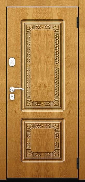 Входная дверь Гарда ZX наружная отделка в цвете Дуб вертикальный