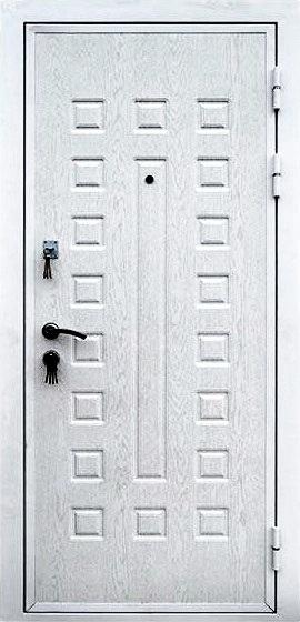 Входная дверь Кондор Х2 наружная сторона в цвете Беленый дуб