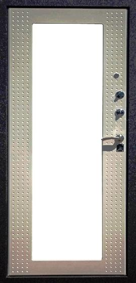 Входная дверь Футура Хай Тек Люкс беленый дуб с зеркалом