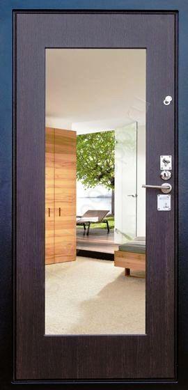 Входная дверь Гарда С5 внутренняя сторона с зеркалом