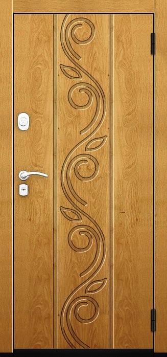 Входная дверь Гарда ZX в цвете Дуб вертикальный с рисунком