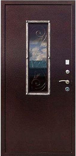 Входная дверь со стеклопакетом Гранит Коттедж внутренняя отделка