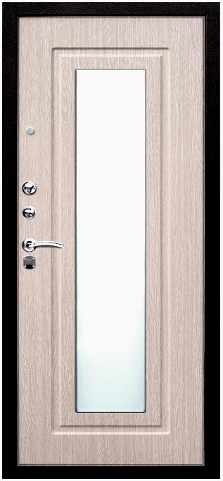 Входная дверь с зеркалом Кондор Реал Люкс внутренняя отделка