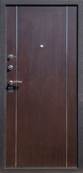 Входная металлическая дверь Футура-002 внутренняя отделка Венге