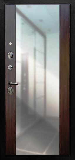Внутренняя отделка с большим зеркалом на входной двери Гарда S6