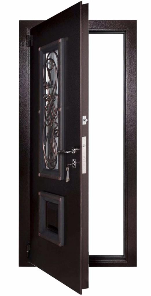 Входная дверь Гранит Коттедж в открытом виде