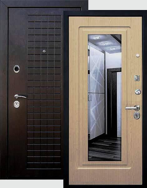 Входная дверь Кондор Реал Люкс вид снаружи и внутри