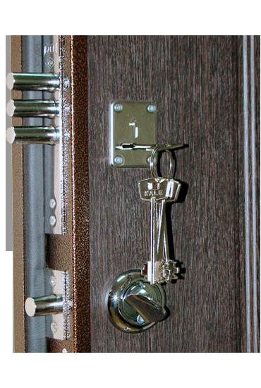 Верхний замок и задвижка Ночной сторож на двери Булат М+2