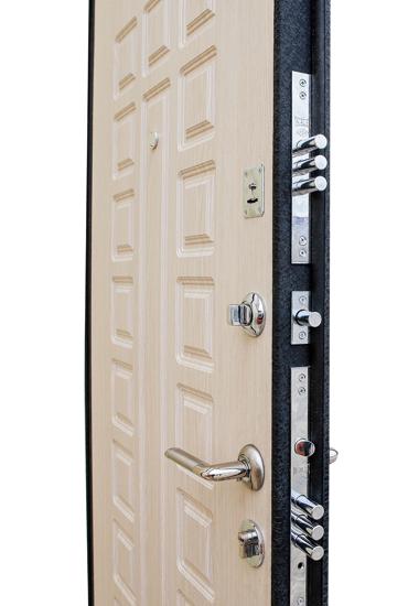 Внутренняя панель МДФ и замки на двери Зенит 3