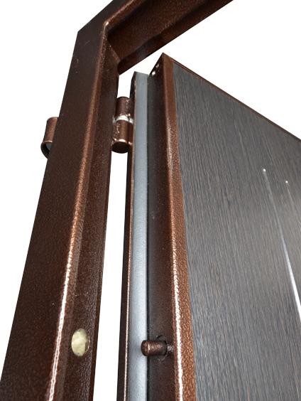 Петли и противосъемные штыри на входной двери Гранит М2 люкс