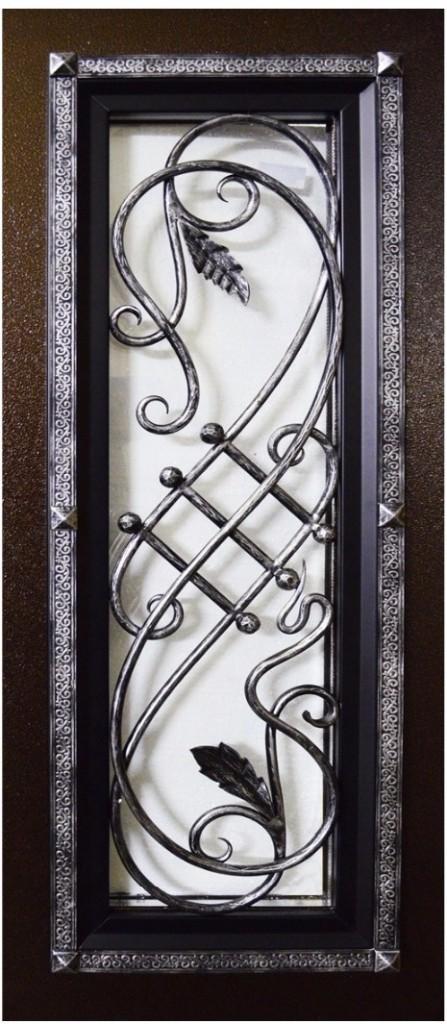 Художественная ковка на входной двери Гранит Коттедж